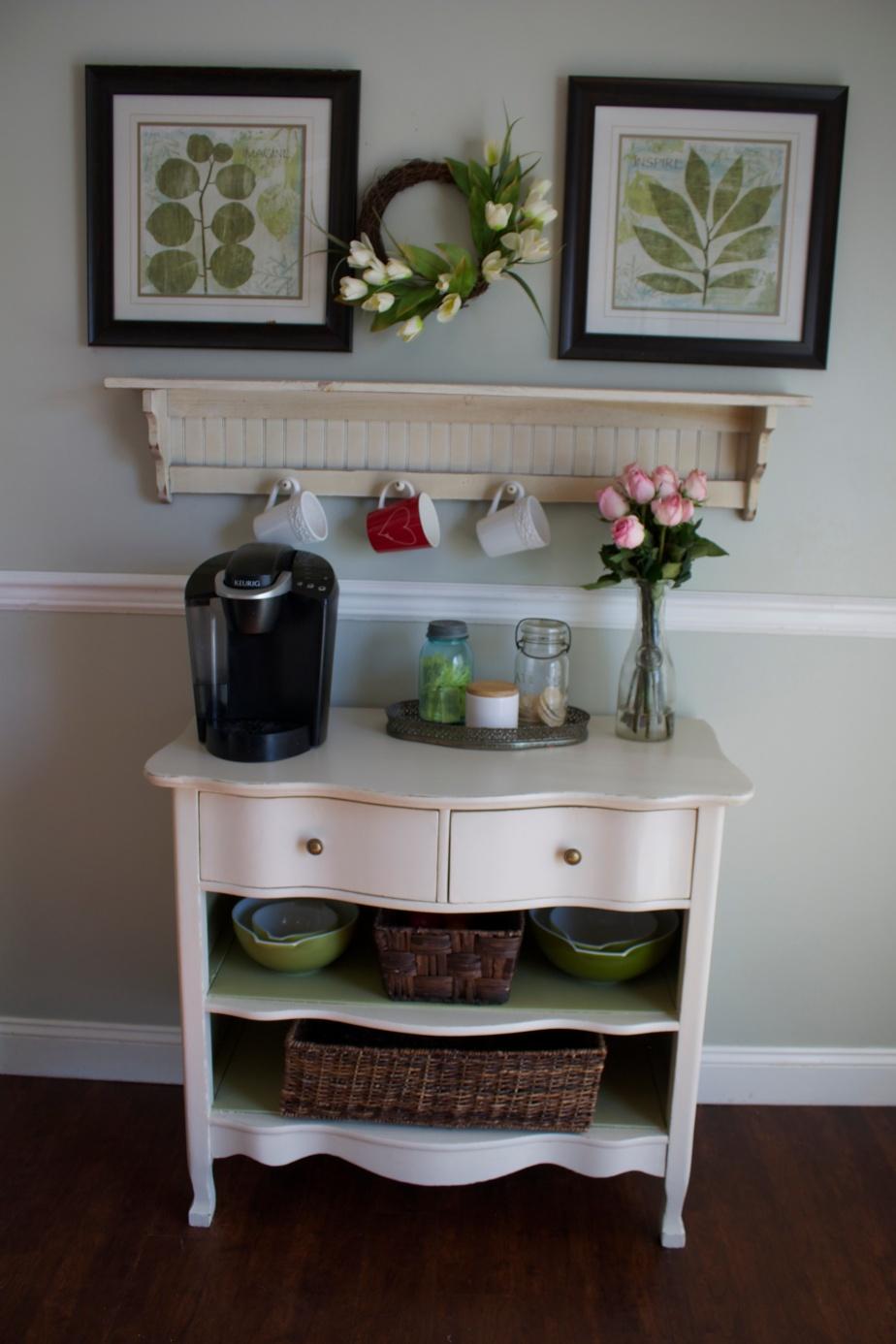 Serpentine Dresser to Coffee BarMakeover